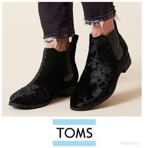 Toms Velvet booties